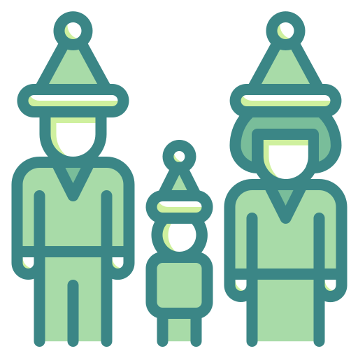 Child, Christmas, Family, Father, Meeting, Mother, People Icon
