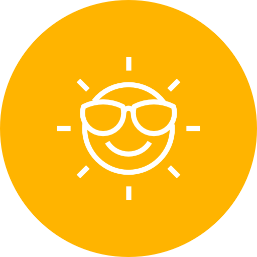 Happy, Sun, Summer Icon Free Of Summer Line Icons Set