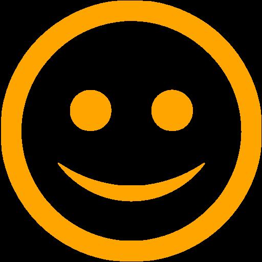 Orange Happy Icon