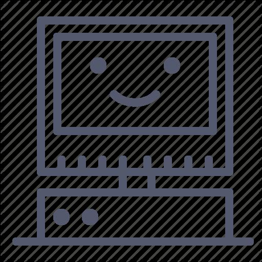 Mac, Old, Pc, Retro, Server, Vintage Icon
