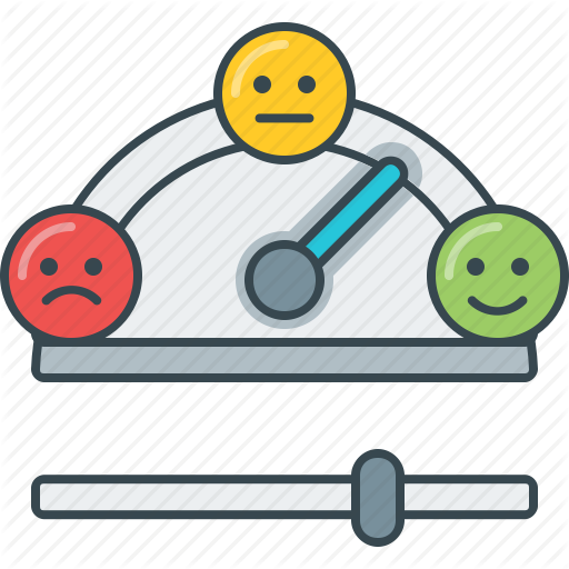 Angry, Happy, Meter, Sad, Satisfiction, Straight Face Icon
