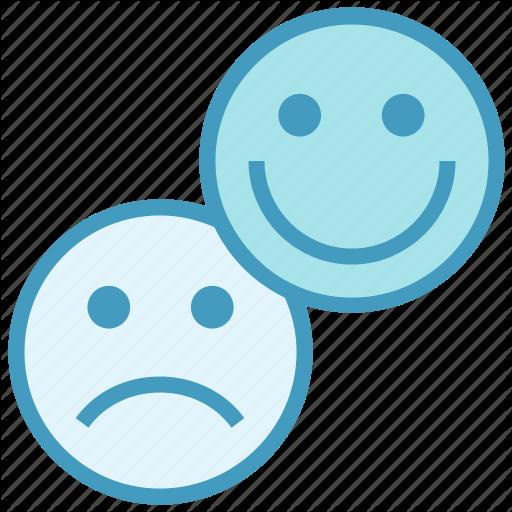 Business, Customer, Emoji, Happy, Sad, Satisfaction Icon