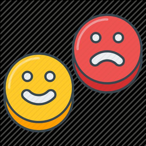 Emoji, Happy, Sad, Satisfaction, Satisfied, Smiley Icon