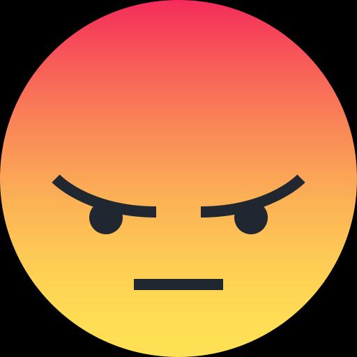 Emoticon, Emoji, Angry, Sad, Reaction Icon