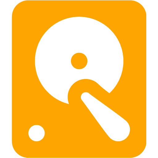 Orange Hard Disk Icon