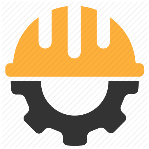 Gear, Hardhat, Helmet, Settings Icon