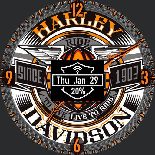 Rotating Harley Davidson Watchfaces For Smart Watches