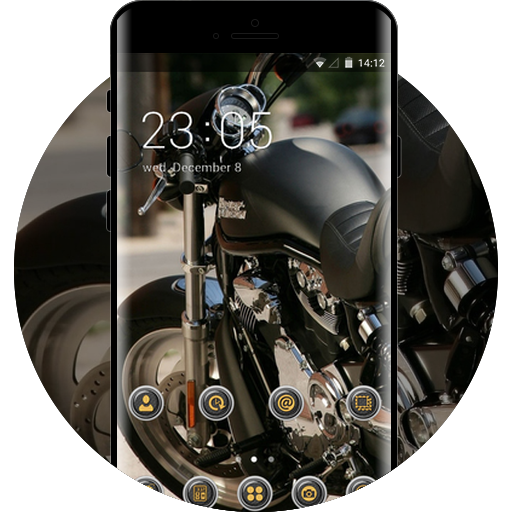Harley Davidson Free Android Theme U Launcher