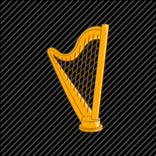 Cartoon, Harp, Instrument, Music, Musical, Sign, String Icon