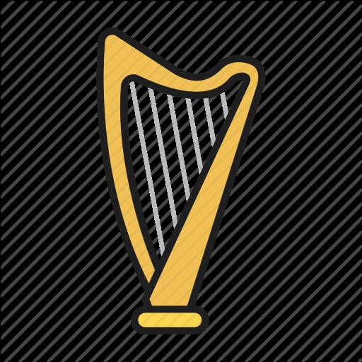 Harp, Music, Musical Instrument, Play On Harp Icon