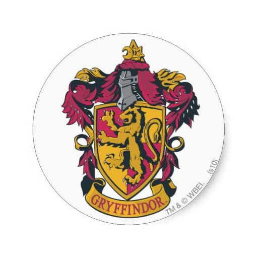 Harry Potter Gryffindor Crest Gold And Red Classic Round Sticker