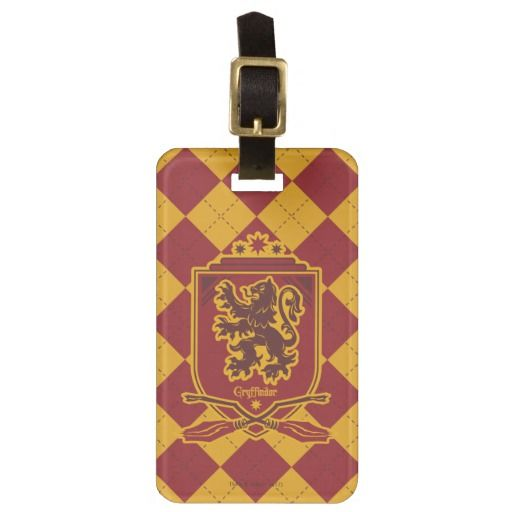 Harry Potter Gryffindor Lion Icon Luggage Tag