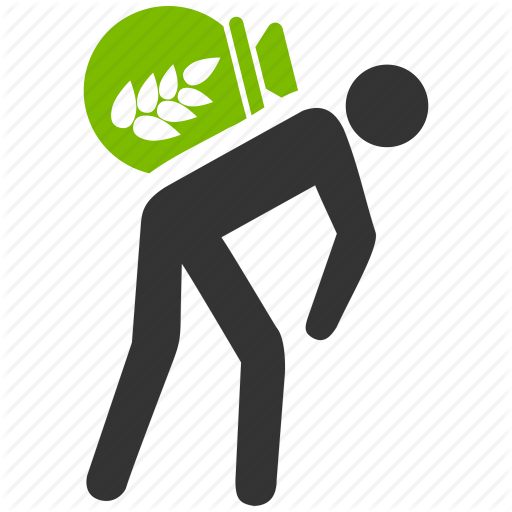 Employee, Food Transfer, Hard Work, Harvest, Thief, Wheat, Worker Icon