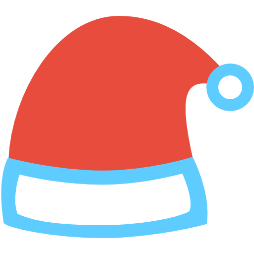 Hat Icon Christmas Flat Color Iconset
