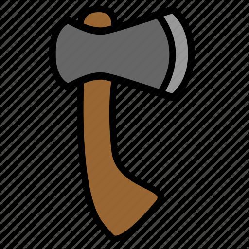Axe, Chop, Color, Hatchet, Tool Icon