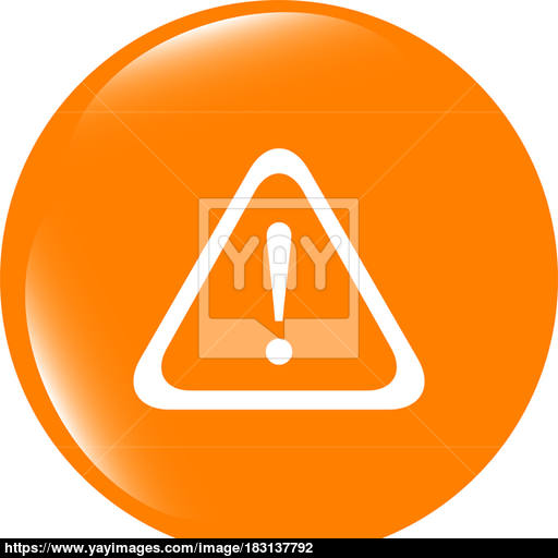 Attention Sign Icon Exclamation Mark Hazard Warning Symbol