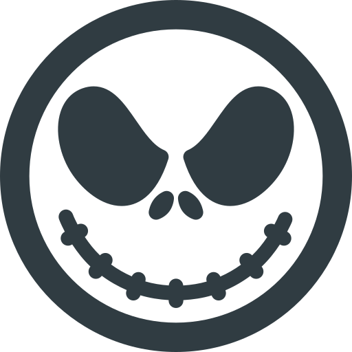 Holyday, Halloween, Jack, Skellington, Mask, Head Icon Free