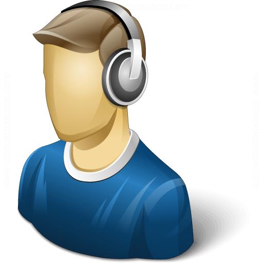 Iconexperience V Collection User Headphones Icon