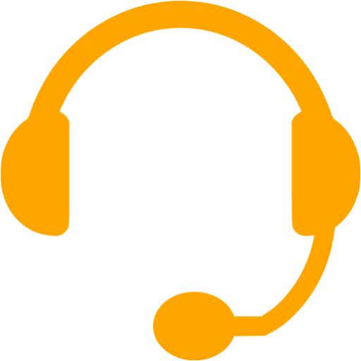 Orange Headset Icon