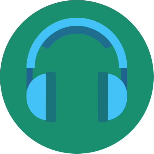 Music, Headphone, Blue, Songs, Media, Song, Headset Icon