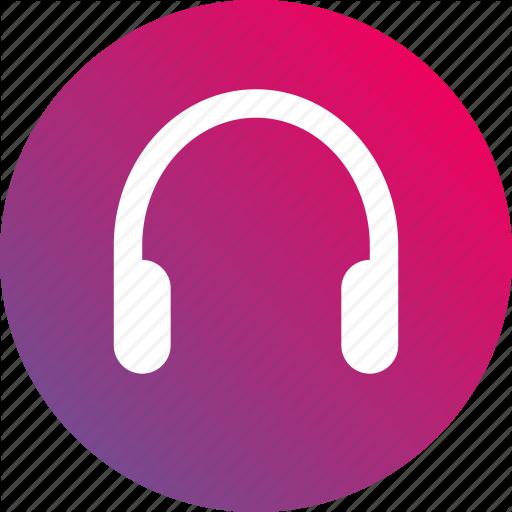 Audio, Gradient, Headphone, Headset, Phone Icon