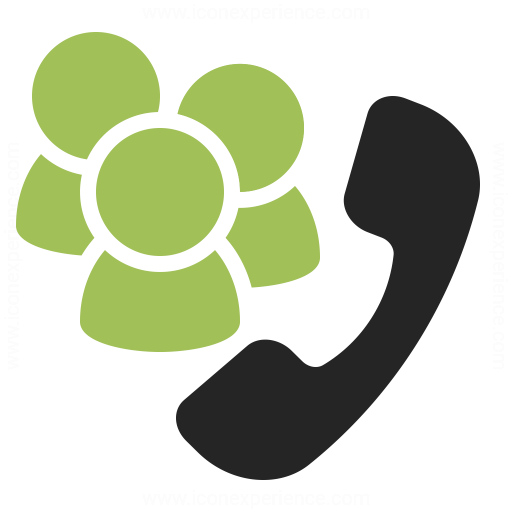 Phone Conference Icon Iconexperience