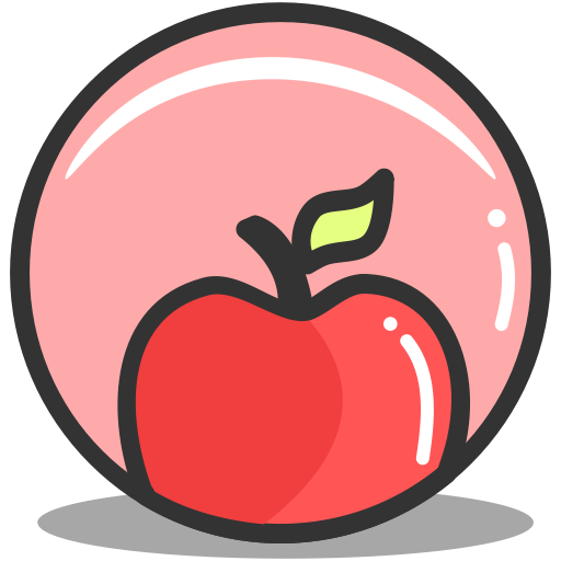 Nutrition, Apple, Health, Fitness Icon