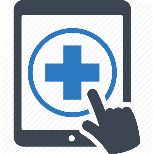 Medical Question, Online Medical Help, Tablet Icon