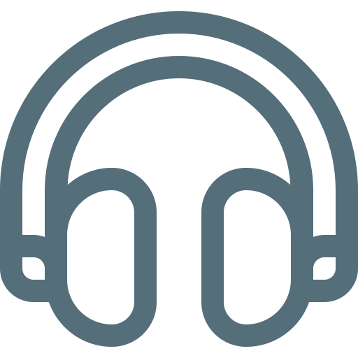 Headset Outline Icon