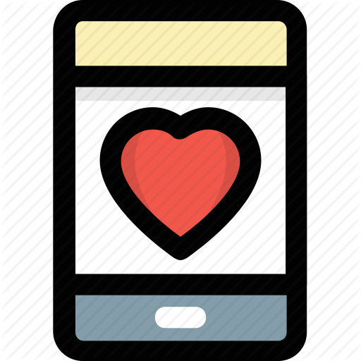 Health App, Heart App, Mobile Heart, Mobile Screen, Smartphone Icon