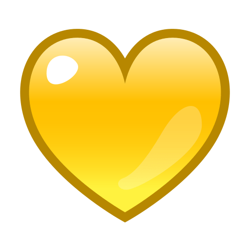 Yellow Heart Emoji For Facebook, Email Sms Id Emoji