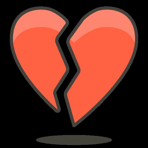 Broken, Heart Icon Free Of Free Vector Emoji