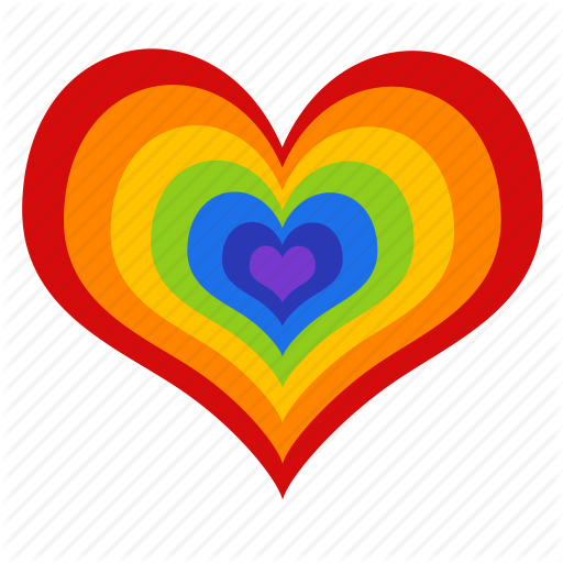 Heart Icons Colorful