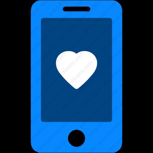 Download Love,heart,mobile,smartphone,mobile Heart Icon Inventicons