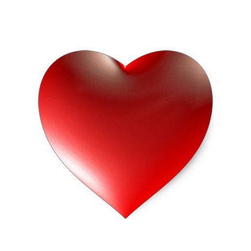 Style Heart Symbol Red Heart Sticker Photos I