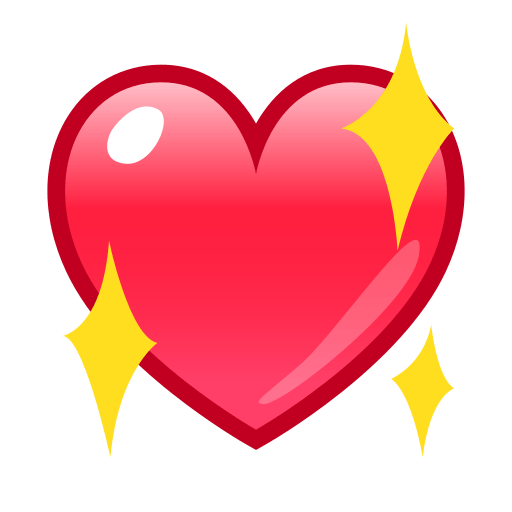Sparkling Heart Emoji For Facebook, Email Sms Id