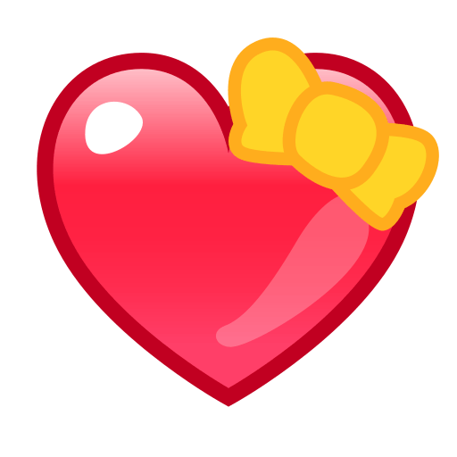 Heart With Ribbon Emoji For Facebook, Email Sms Id