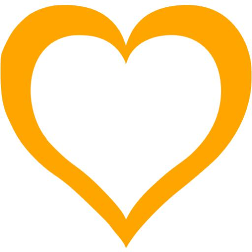 Orange Heart Icon