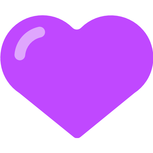 Purple Heart Emoji For Facebook, Email Sms Id Emoji