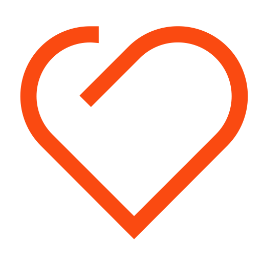 Heart Orange Icon, Orange, Square Icon Png And Vector For Free