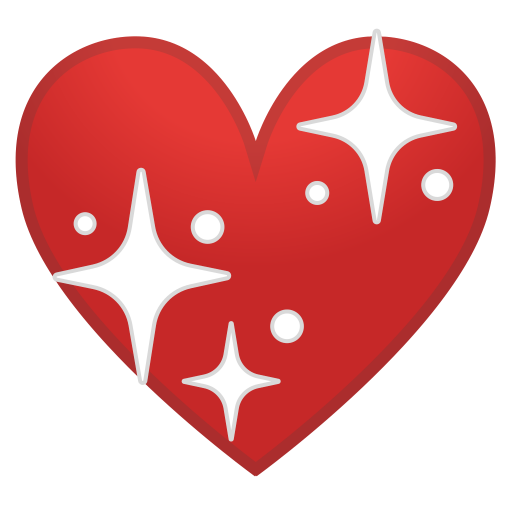 Sparkling Heart Icon Noto Emoji People Family Love Iconset