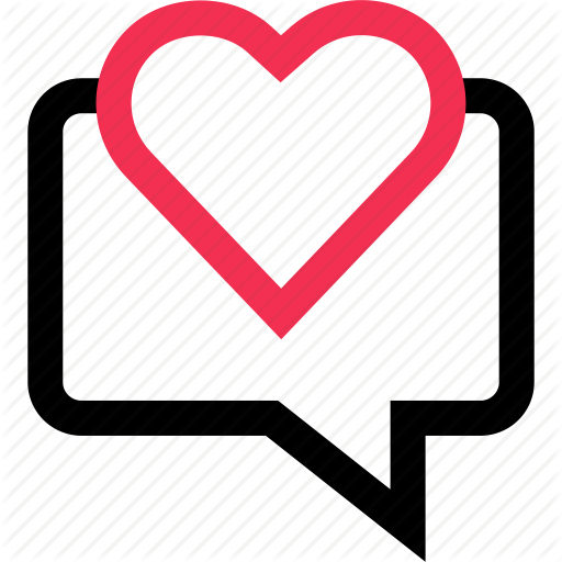 Bubble, Chat, Heart, Love, Messaging, Sms, Text Icon