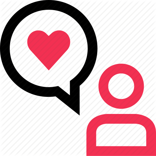 Bubble, Heart, Love, Messaging, Sms, Speak, Text Icon