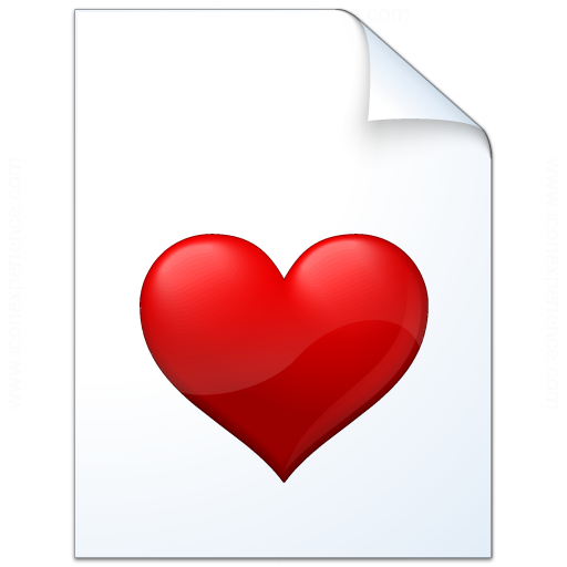 Iconexperience V Collection Document Heart Icon