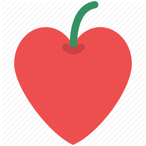 Fruit, Heart Apple, Heart Fruit, Heart Shape Apple, Love Concept Icon