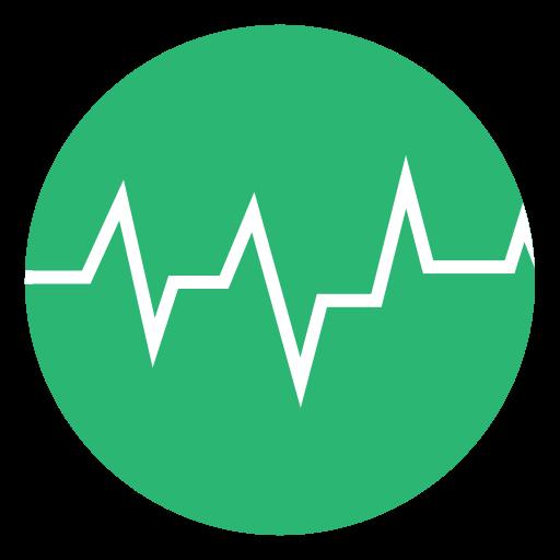 Green, Heart Beat, Heart, Beat, Heartbeat Icon