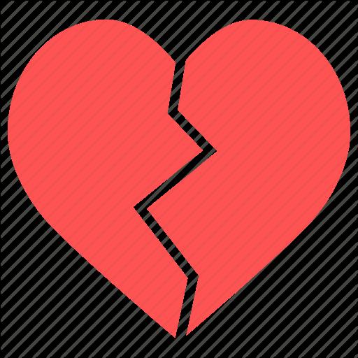 Break Up, Broken, Broken Heart, Heart, Heartbreak Icon