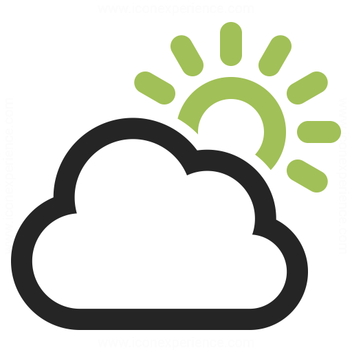 Cloud Sun Icon Iconexperience
