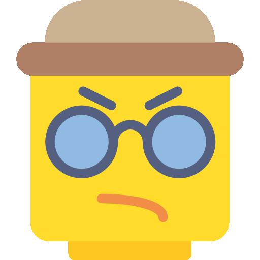 Lego Flat Gold Icon