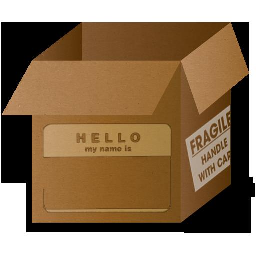 Box Hello Icon